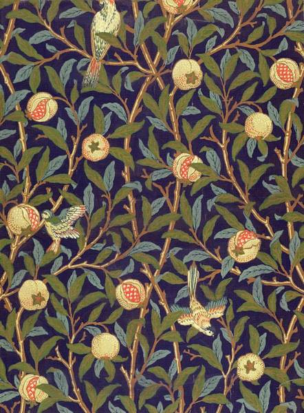William Morris Painting - Bird And Pomegranate by William Morris