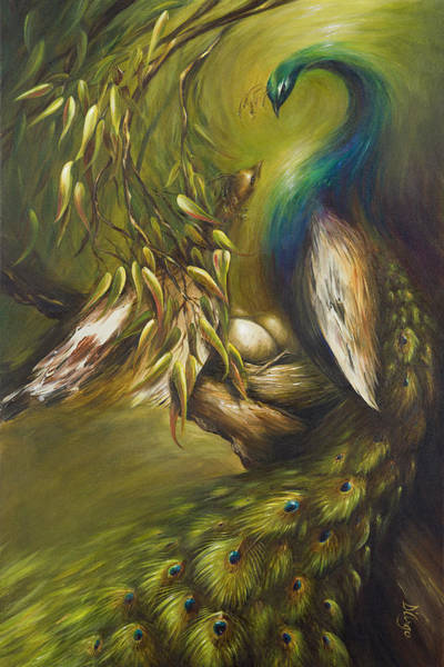 Peafowl Painting - Birds Of A Feather by Dina Dargo