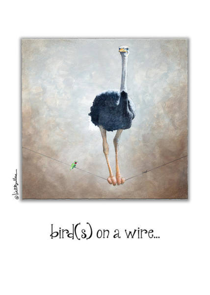 Painting - Birds On A Wire... by Will Bullas