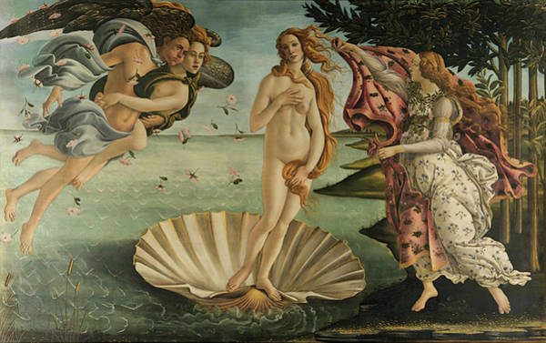 Sandro Botticelli Painting - The Birth Of Venus, Detail by Sandro Botticelli