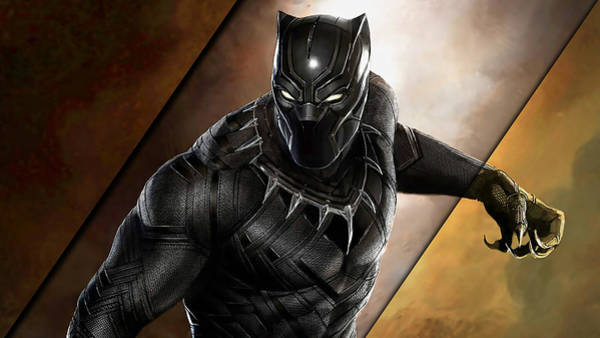 Black Panther Mixed Media - Black Panther Collection by Marvin Blaine