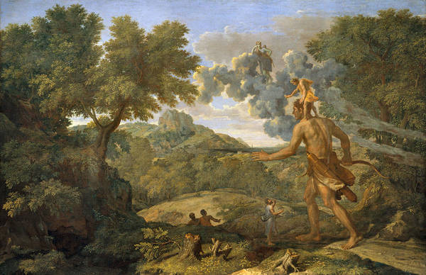 Photograph - Blind Orion Searching For The Rising Sun by Nicolas Poussin