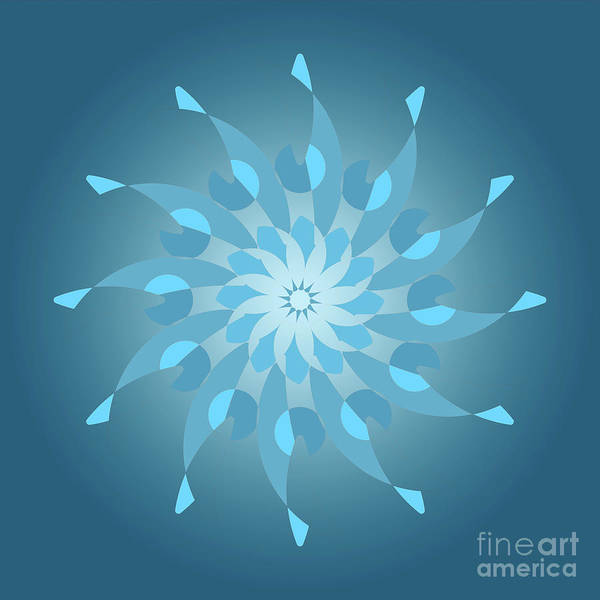 Light Blue Drawing - Blue Abstract Star For Home Decoration by Drawspots Illustrations
