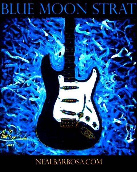 Painting - Blue Moon Strat by Neal Barbosa