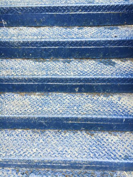 Pattern Wall Art - Photograph - Blue Steps by Tom Gowanlock