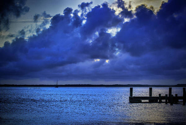 Photograph - Blue Sunset by Dave Bosse