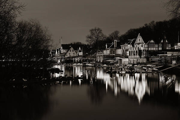 Photograph - Boathouse Row by Songquan Deng