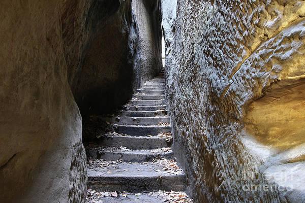 Tourism Wall Art - Photograph - Bohemian Paradise - Rocks Stair - Narrow Path by Michal Boubin