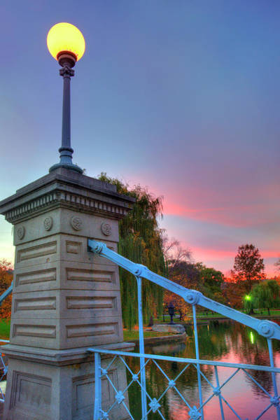 Photograph - Boston Public Garden Lagoon Bridge by Joann Vitali