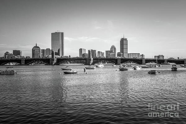 Wall Art - Photograph - Boston Skyline Black And White Photo by Paul Velgos