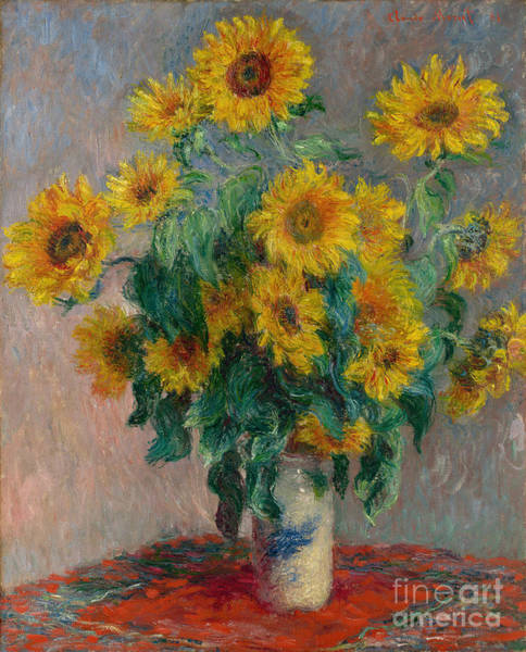 Wall Art - Painting - Bouquet Of Sunflowers by Claude Monet