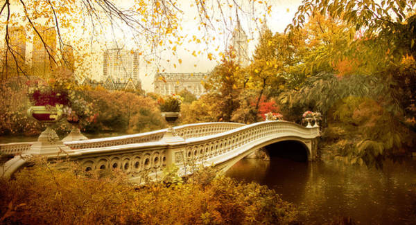 Photograph - Bow Bridge Autumn by Jessica Jenney