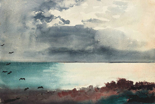 Painting - Breaking Storm Coast Of Maine by Winslow Homer