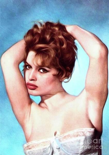 Pinewood Painting - Brigitte Bardot, Actress by John Springfield