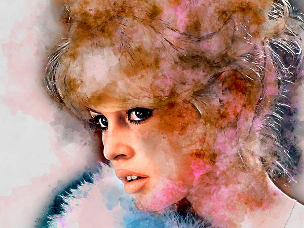Wall Art - Mixed Media - Brigitte Bardot by Marvin Blaine