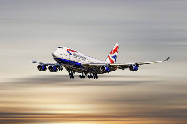 Boeing Mixed Media - British Airways Boeing 747-400 by Smart Aviation