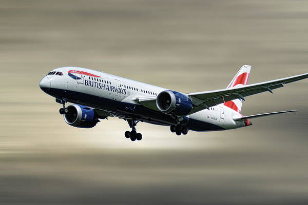 Wall Art - Mixed Media - British Airways Boeing 787-8 Dreamliner by Smart Aviation