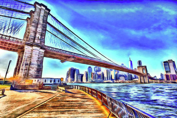 Wall Art - Photograph - Brooklyn Bridge New York Art by David Pyatt