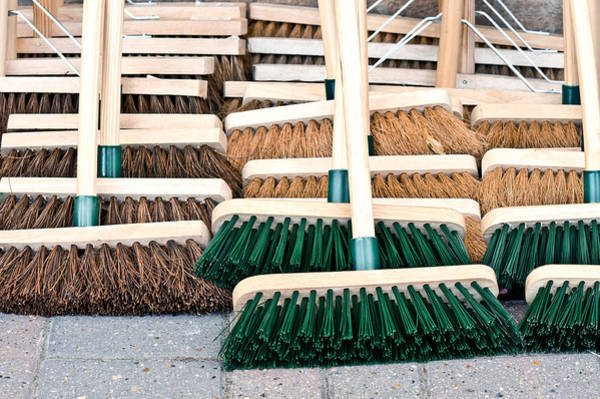 Sweeping Photograph - Brooms by Tom Gowanlock