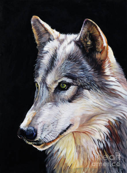 Wall Art - Painting - Brother Wolf by J W Baker