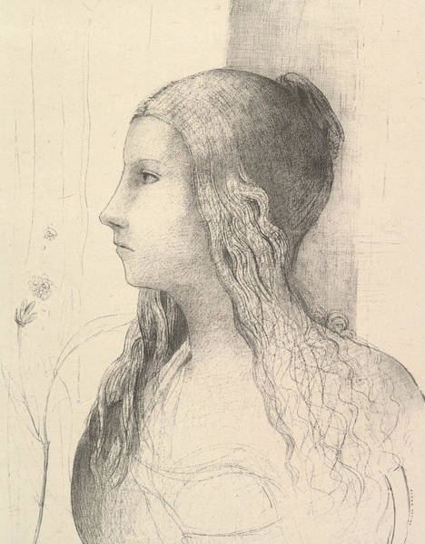 Relief - Brunnhilde  by Odilon Redon