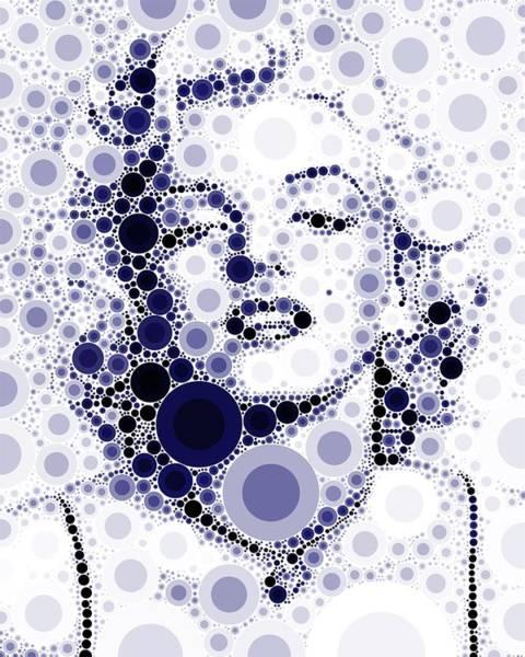 Bubble Art Marilyn Monroe Art Print