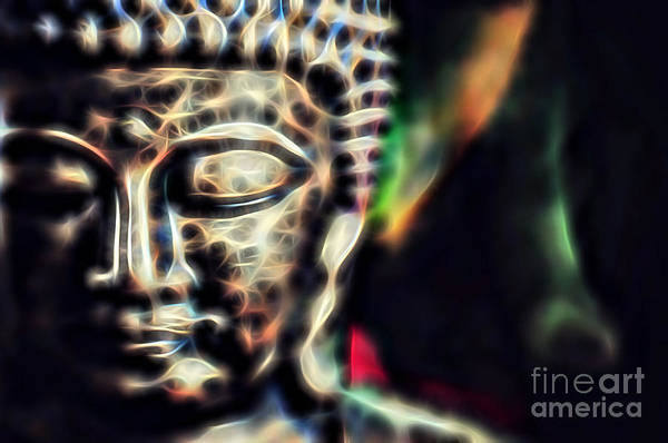 Serenity Prayer Mixed Media - Buddah Collection by Marvin Blaine