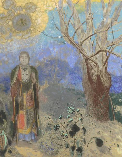 Pastel - Buddha by Odilon Redon