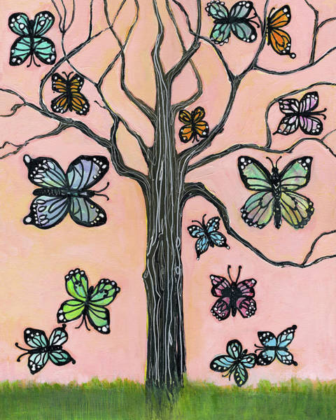 Wall Art - Painting - Butterflies Are Free by Blenda Studio