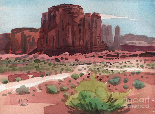 Butte Painting - Buttes And Mesas by Donald Maier