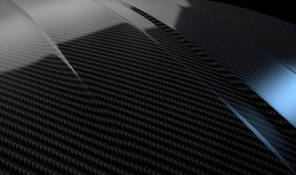 Manufacture Digital Art - Car Contour Carbon Fibre by Allan Swart