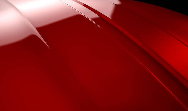 Smooth Digital Art - Car Contour Cherry Red by Allan Swart