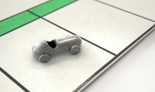 Estate Digital Art - Car Icon On A Boardgame by Allan Swart