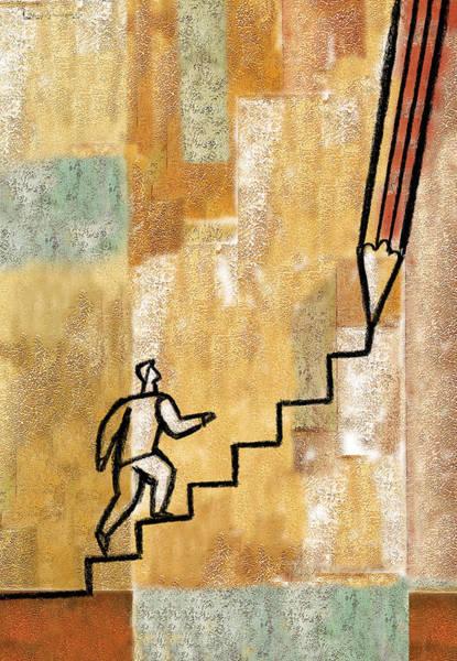 Wall Art - Painting - Career Path by Leon Zernitsky