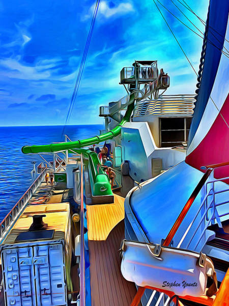 Wall Art - Photograph - Carnival Pride Deck by Stephen Younts