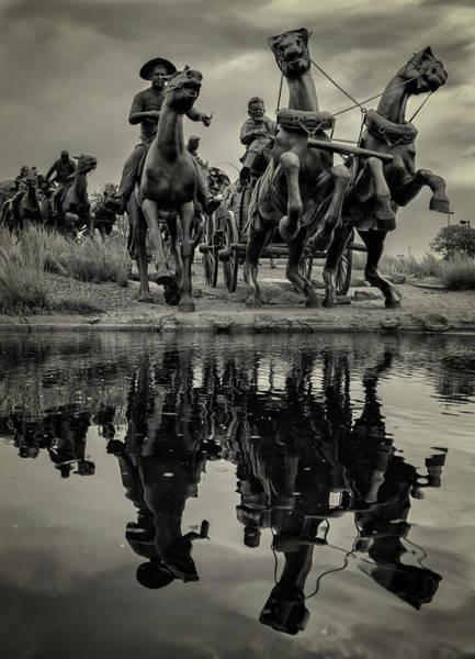 Wild West Photograph - Centennial Statues by Ricky Barnard