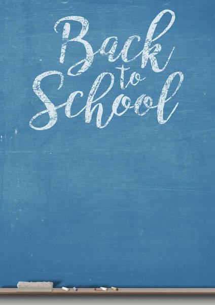 Back-to-school Digital Art - Chalk Board Split by Allan Swart