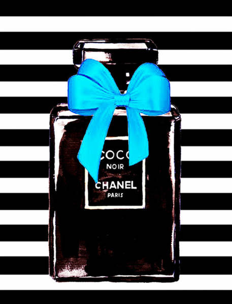 Chanel Mixed Media - Chanel Noir Perfume  by Del Art