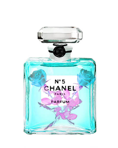 Chanel Mixed Media - Chanel Perfume Print by Del Art