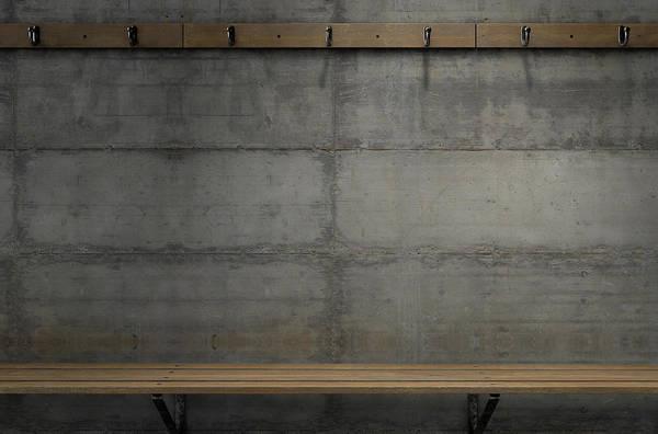 Wall Art - Digital Art - Change Room Hangers And Bench by Allan Swart