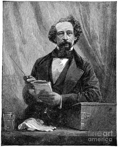 Drawing - Charles Dickens by Granger