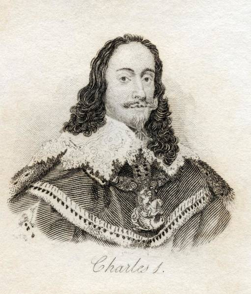 Wales Drawing - Charles I 1600-1649 King Of England by Vintage Design Pics
