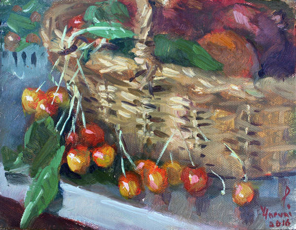 Apple Painting - Cherries by Ylli Haruni