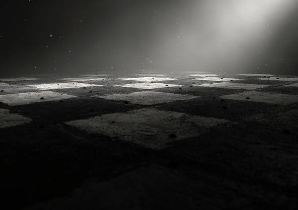 Checker Digital Art - Chessboard Dark by Allan Swart