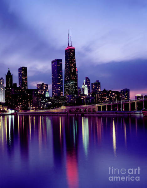 Photograph - Chicago Skyline by Granger