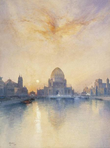 1837 Painting - Chicago Worlds Fair by Thomas Moran