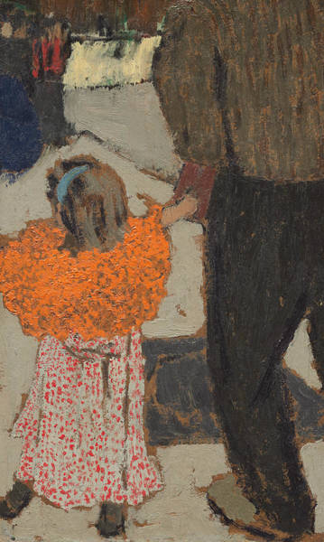 Painting - Child Wearing A Red Scarf by Edouard Vuillard