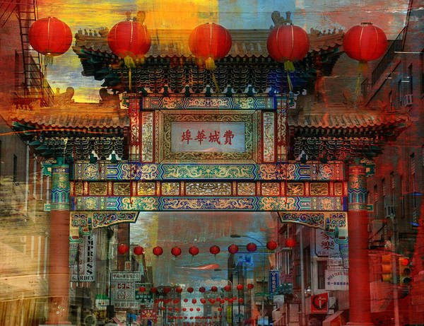 Mixed Media - China Town by Trish Tritz
