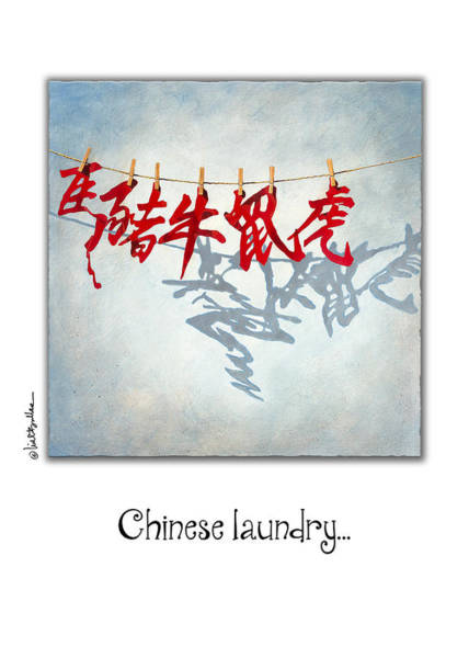 Signs Of The Zodiac Painting - Chinese Laundry... by Will Bullas