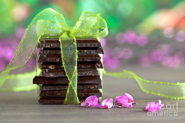 White Background Wall Art - Photograph - Chocolate by Nailia Schwarz